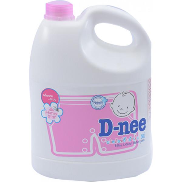 Nước Giặt Em Bé D-Nee Hồng Can 3L