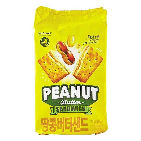 Bánh Quy No Brand Kẹp Bơ Đậu Phộng Gói 190G