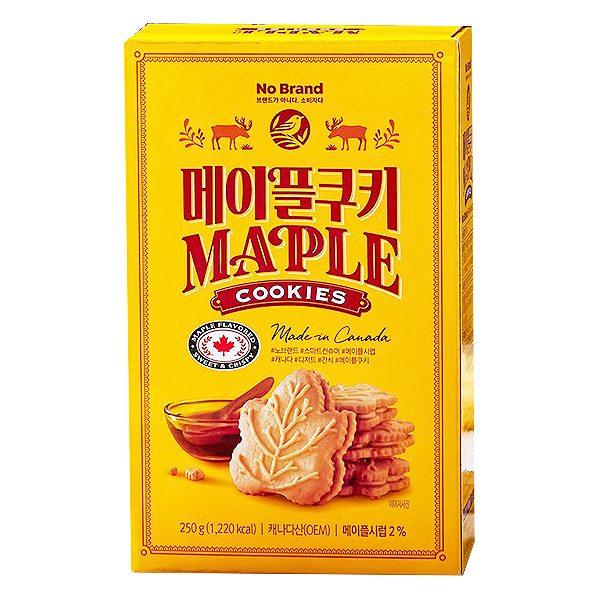 Bánh Quy Hình Lá Phong No Brand Hộp 250G