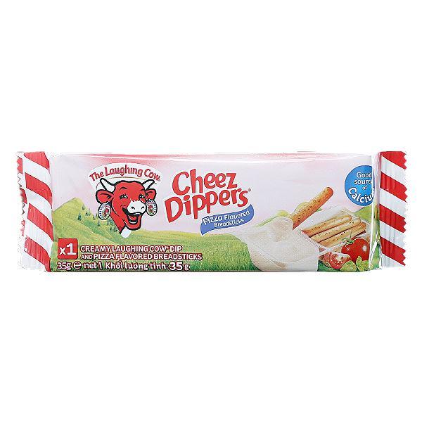 Phô Mai Con Bò Cười Chấm Bánh Cheez Dippers Vị Pizza 35G