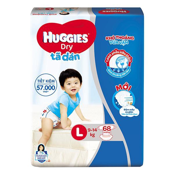 Tã Dán Huggies Super Jumbo L68