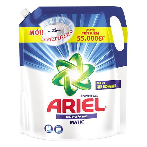 Nước Giặt Ariel Khử Mùi Ẩm Mốc Túi 2.15Kg