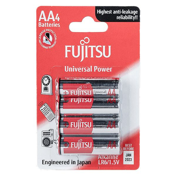 Pin Fujitsu Alkaline LR6 4B Size AA
