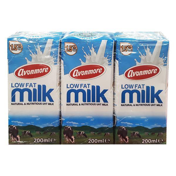 Lốc 3 Sữa Tươi Tiệt Trùng Avonmore Ít Béo 200Ml