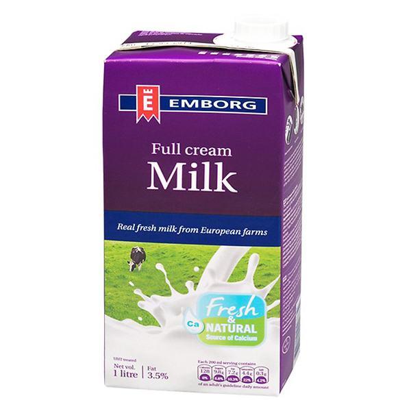 Sữa Tươi Tiệt Trùng Emborg Nguyên Kem Hộp 1L