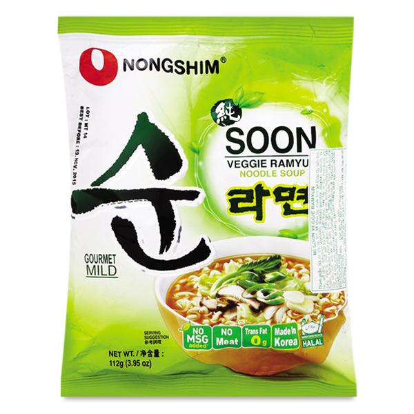 Mì Nongshim Soon Veggie Gói 112G