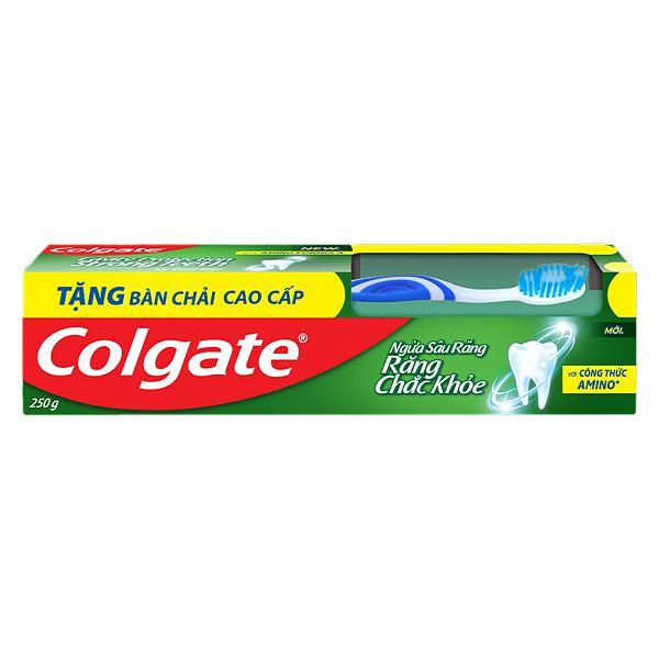 Bộ Đôi Bàn Chải Đánh Răng Và Kem Đánh Răng Colgate Ngừa Sâu Răng 250G