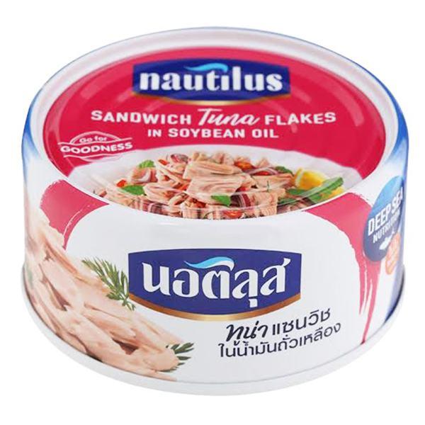 Cá Ngừ Nautilus Cắt Lát Ngâm Dầu Đậu Nành 170G