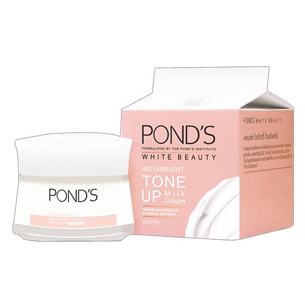 Kem Dưỡng Trắng Da Ponds White Beauty Instabright Tone Up Milk Cream Hũ 50G
