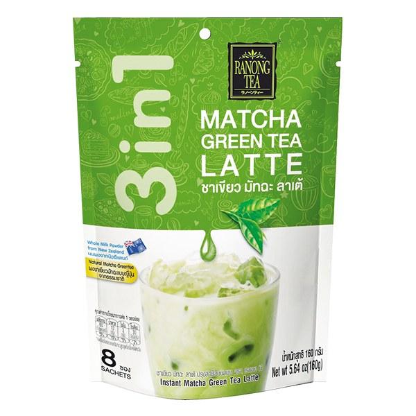 Trà Sữa Thái Ranong Tea 3in1 Matcha Hòa Tan 8 Gói*20G