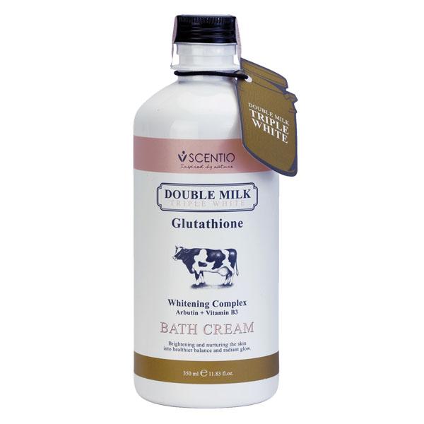 Kem Tắm Trắng Scentio Double Milk 350Ml
