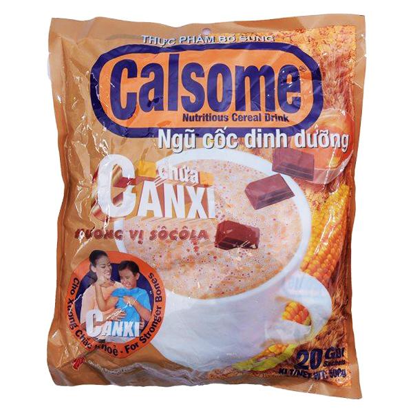 Bột Ngũ Cốc Calsome Sô Cô La 20 Gói*25G