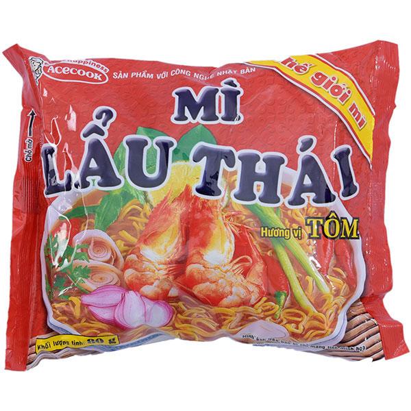 Mì Thế Giới Mì Lẩu Thái Tôm 80G