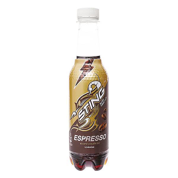 Nước Tăng Lực Sting Espresso Vị Cafe Chai 330Ml