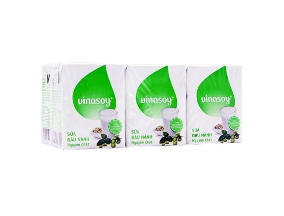 Lốc 6 Sữa Đậu Nành Vinasoy Nguyên Chất Hộp Giấy 200Ml