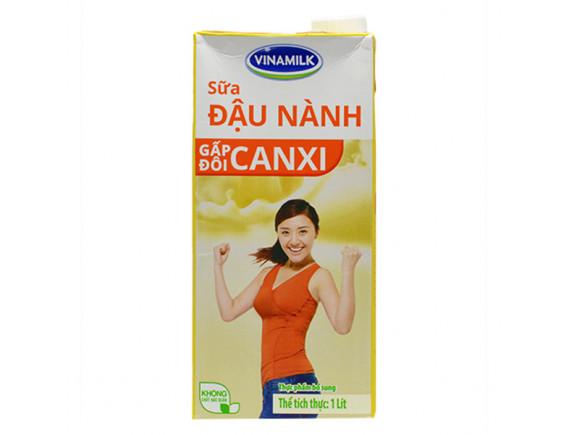 Sữa Đậu Nành Vinamilk Canxi Hộp Giấy 1L