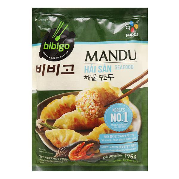 Bánh Xếp Mandu Bibigo Nhân Hải Sản 175G