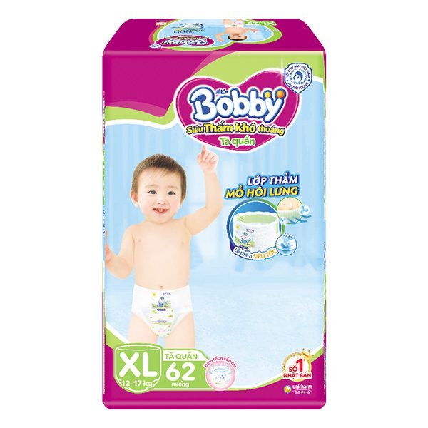 Tã Quần Bobby Super Jumbo XL62