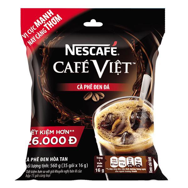 Cà Phê Đen Đá Nescafe Việt 2in1 35Gói*16G