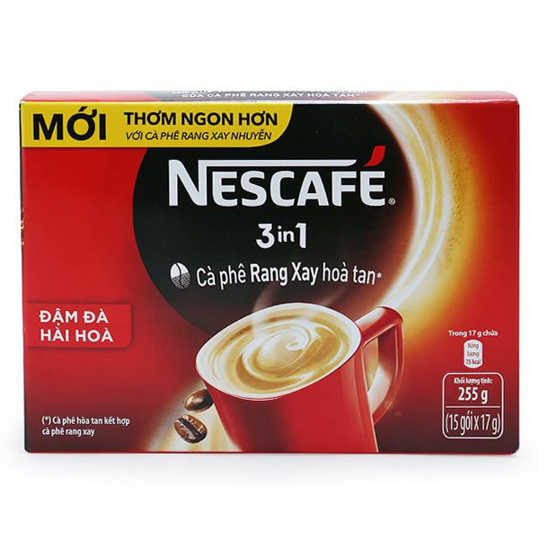 Cà Phê Nescafe 3in1 Đỏ Rang xay 17G*15