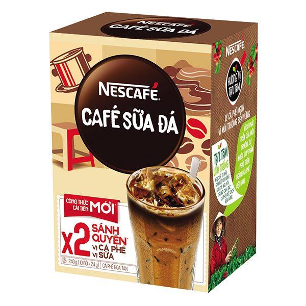 Cà Phê Nescafe 3IN1 Sữa Đá 20G*10 Gói