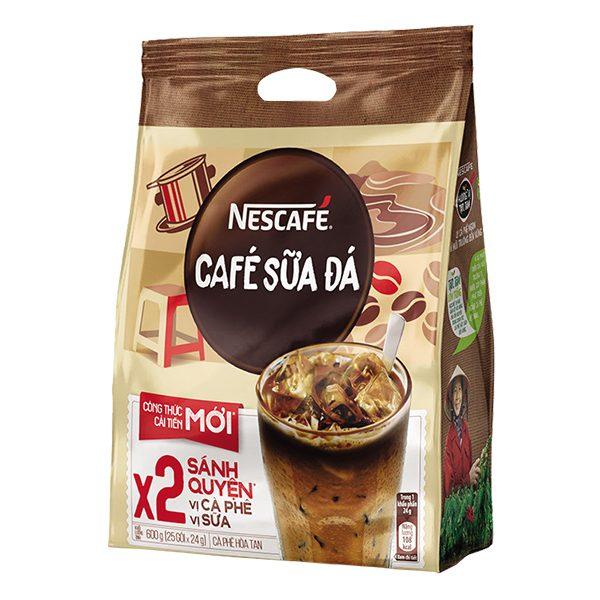 Cà Phê Nescafe Sữa Đá 3in1 Bịch 25 Gói*20G