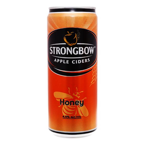 Nước Táo Lên Men Strongbow Vị Mật Ong Sleek Lon 330Ml