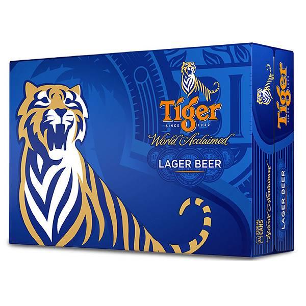 Bia Tiger Thùng 24 Lon 330Ml (Mẫu Giơ Cao Bóng Vàng)