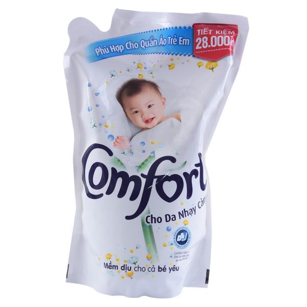 Nước Xả Vải Comfort Da Nhạy Cảm Túi 1.6L