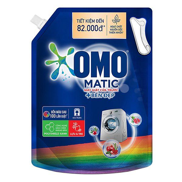 Nước Giặt Omo Matic Bền Đẹp Cửa Trước Túi 3.7Kg