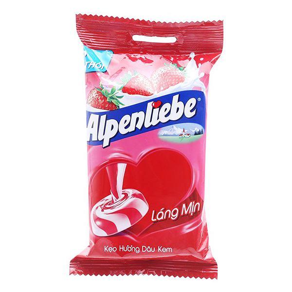 Kẹo Alpenliebe Hương Dâu Kem 3 Thỏi 96G