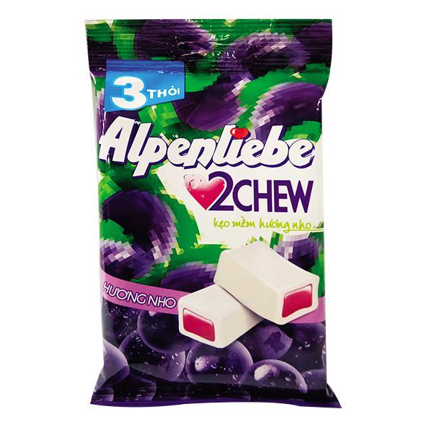 Kẹo Mềm Alpenliebe 2 Chew Nho 73.5G