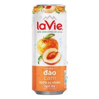 Nước Giải Khát Có Ga Lavie Hương Đào Cam Lon 330Ml (Sản phẩm chỉ giao đến 30/11/2020)
