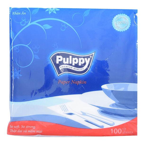 Khăn Giấy Ăn Pulppy Paper Napkin 100 Tờ