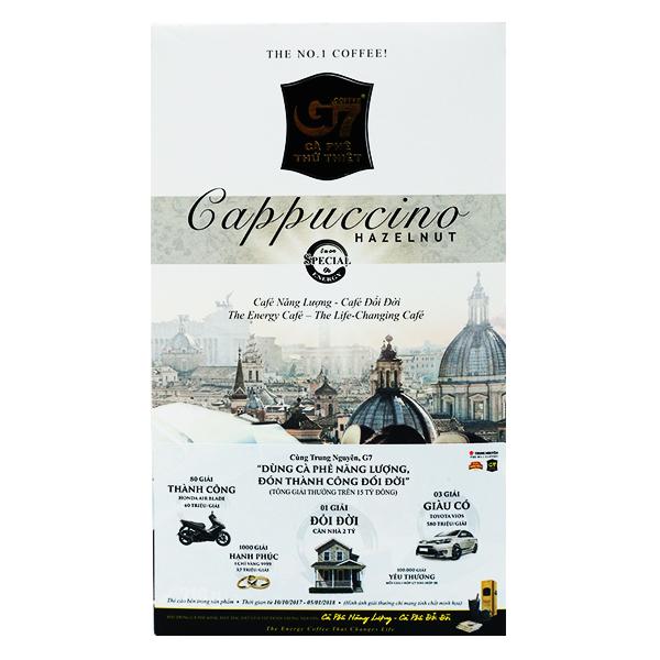 Cà Phê G7 Cappuccino Hazelnut Hộp 12 Gói*18G