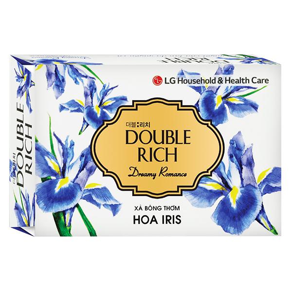 Xà Bông Cục Double Rich Iris 90G
