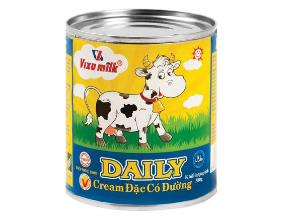 Sữa Đặc Có Đường Vixu Milk Daily Vàng 380G