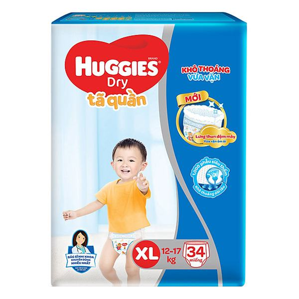 Tã Quần Huggies Dry XL34