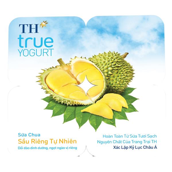 Lốc 4 Sữa Chua Ăn TH True Milk Sầu Riêng 100G