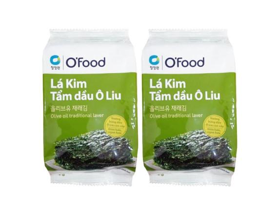 Lô 2 Rong Biển Lá Kim Miwon O'Food Tẩm Dầu Ôliu 5G