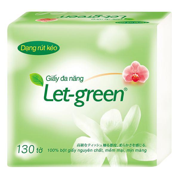 Khăn Giấy Đa Năng Let Green 130 Tờ