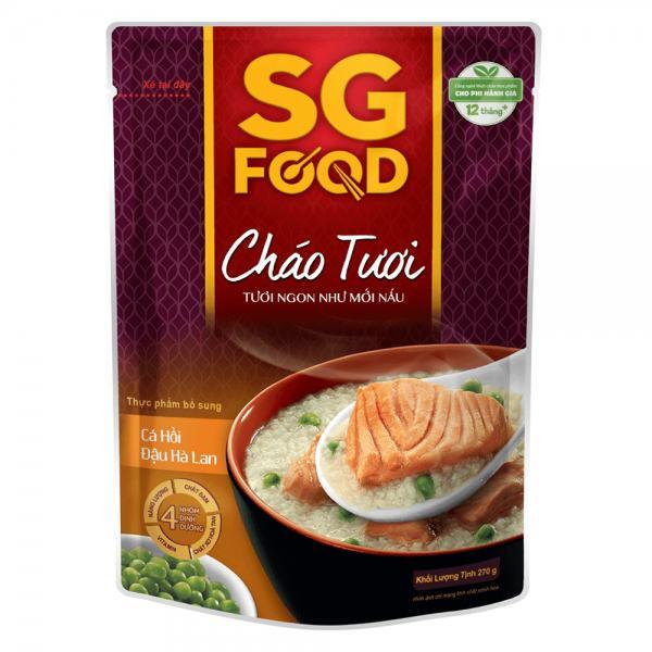 Cháo SG Food Cá Hồi Đậu Hà Lan 270G