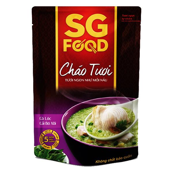 Cháo Tươi SG Food Cá Lóc Cải Bó Xôi 270G