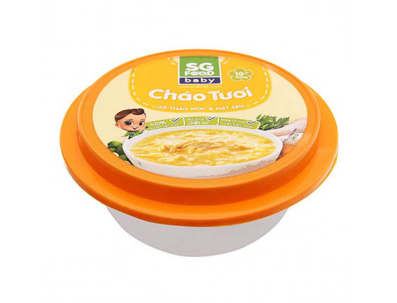 Cháo Tươi SG Food Baby Gà Và Hạt Sen Hộp 240G