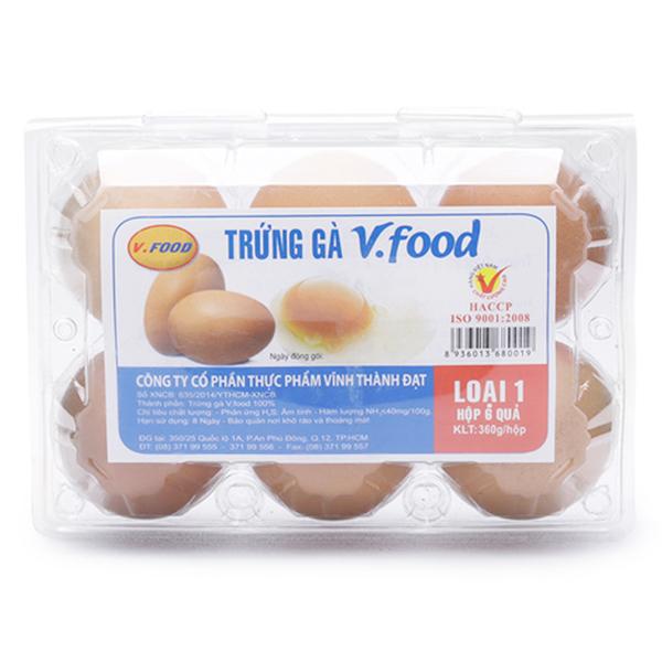 Hộp 6 Trứng Gà Vfood