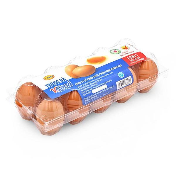 Hộp 10 Trứng Gà Vfood Loại 1