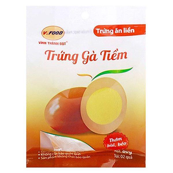 Trứng Gà Tiềm Ăn Liền Vfood Túi 2 Trứng 80G