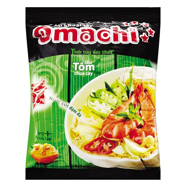 Mì Omachi Tôm Chua Cay 5 Sao Gói 78G