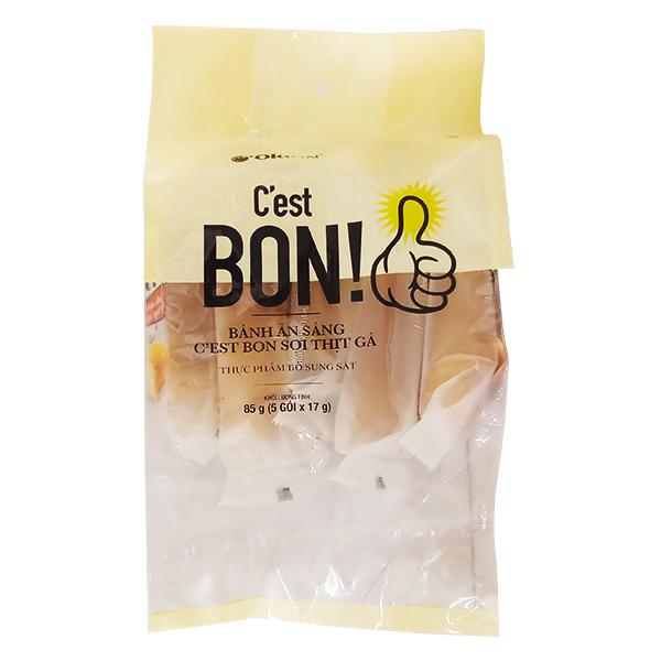 Bánh Ăn Sáng C'est Bon Sợi Thịt Gà 5 Cái*17G
