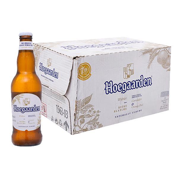 Bia Hoegaarden White Thùng 24 Chai 330Ml